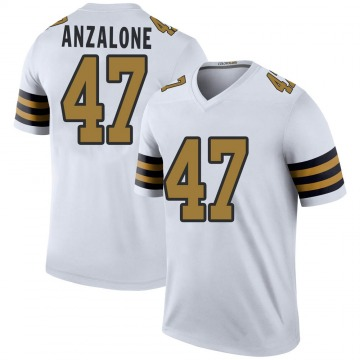 Youth Nike New Orleans Saints Alex Anzalone White Color Rush Jersey - Legend
