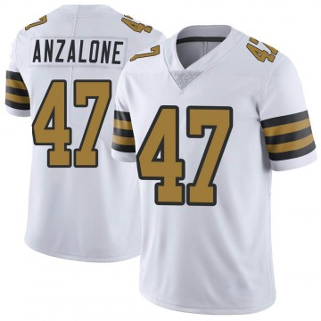 Youth Nike New Orleans Saints Alex Anzalone White Color Rush Jersey - Limited
