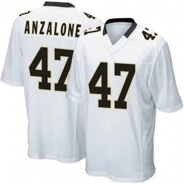 Youth Nike New Orleans Saints Alex Anzalone White Jersey - Game