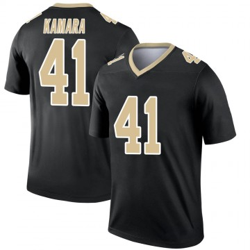 Youth Nike New Orleans Saints Alvin Kamara Black Jersey - Legend