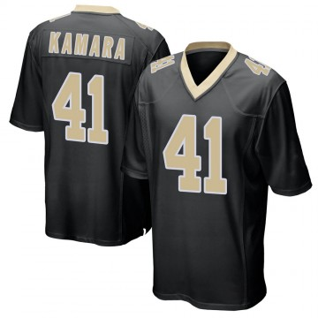 Youth Nike New Orleans Saints Alvin Kamara Black Team Color Jersey - Game