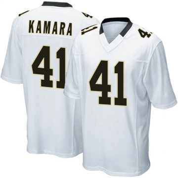 Youth Nike New Orleans Saints Alvin Kamara White Jersey - Game