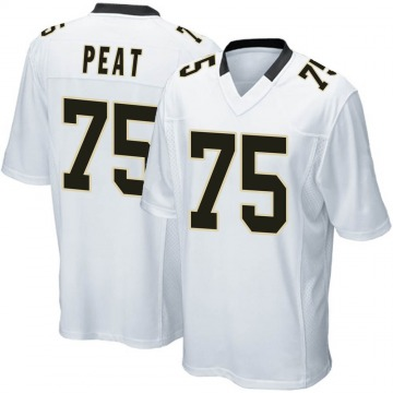 Youth Nike New Orleans Saints Andrus Peat White Jersey - Game