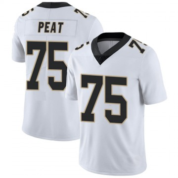 Youth Nike New Orleans Saints Andrus Peat White Vapor Untouchable Jersey - Limited