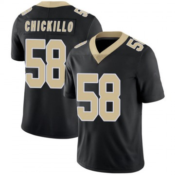 Youth Nike New Orleans Saints Anthony Chickillo Black Team Color 100th Vapor Untouchable Jersey - Limited