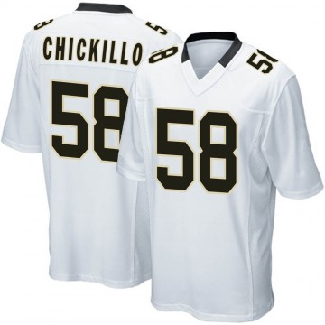 Youth Nike New Orleans Saints Anthony Chickillo White Jersey - Game