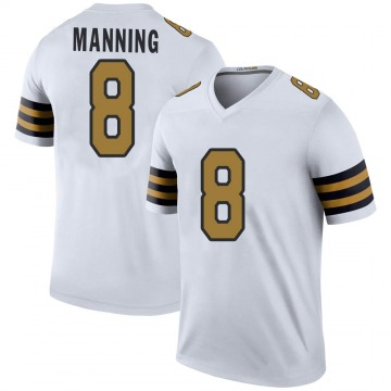 Youth Nike New Orleans Saints Archie Manning White Color Rush Jersey - Legend