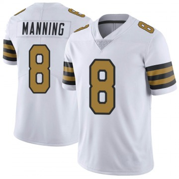 Youth Nike New Orleans Saints Archie Manning White Color Rush Jersey - Limited