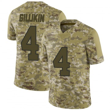 Youth Nike New Orleans Saints Blake Gillikin Camo 2018 Salute to Service Jersey - Limited