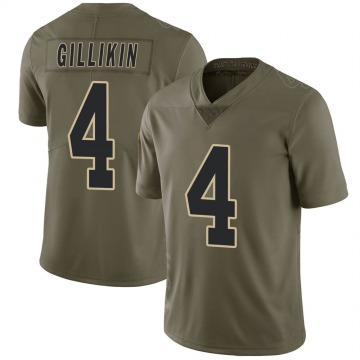 Youth Nike New Orleans Saints Blake Gillikin Green 2017 Salute to Service Jersey - Limited