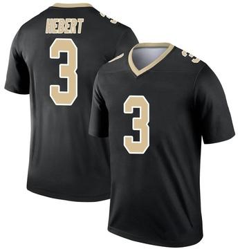 Youth Nike New Orleans Saints Bobby Hebert Black Jersey - Legend