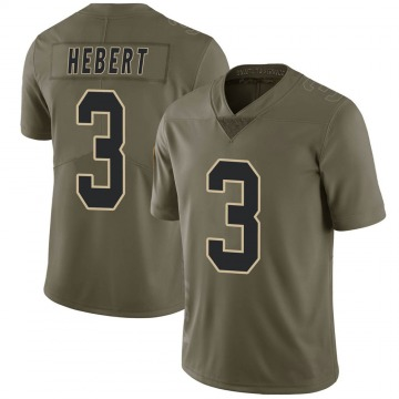 Youth Nike New Orleans Saints Bobby Hebert Green 2017 Salute to Service Jersey - Limited