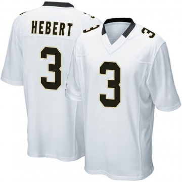 Youth Nike New Orleans Saints Bobby Hebert White Jersey - Game