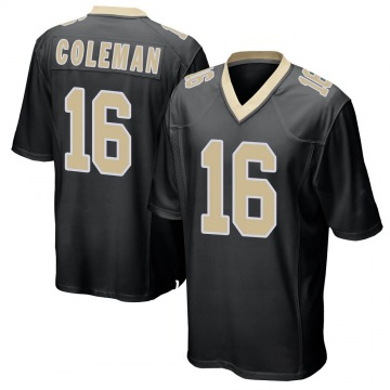 Youth Nike New Orleans Saints Brandon Coleman Black Team Color Jersey - Game