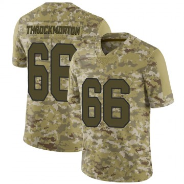 Youth Nike New Orleans Saints Calvin Throckmorton Camo 2018 Salute to Service Jersey - Limited