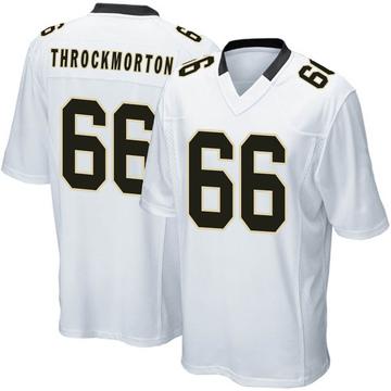 Youth Nike New Orleans Saints Calvin Throckmorton White Jersey - Game