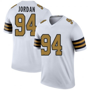 Youth Nike New Orleans Saints Cameron Jordan White Color Rush Jersey - Legend