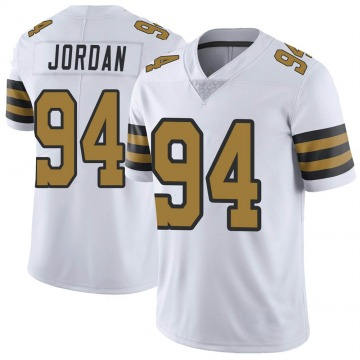 Youth Nike New Orleans Saints Cameron Jordan White Color Rush Jersey - Limited