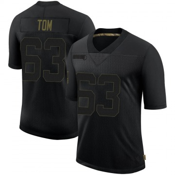 Youth Nike New Orleans Saints Cameron Tom Black 2020 Salute To Service Jersey - Limited