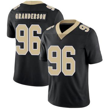 Youth Nike New Orleans Saints Carl Granderson Black Team Color 100th Vapor Untouchable Jersey - Limited