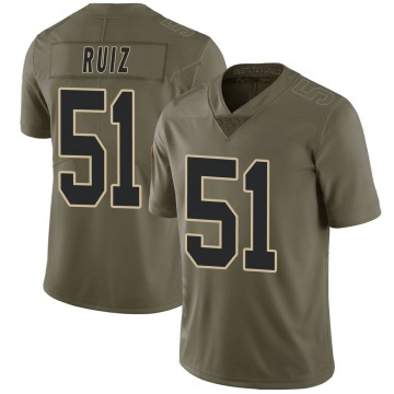Youth Nike New Orleans Saints Cesar Ruiz Green 2017 Salute to Service Jersey - Limited
