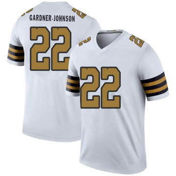 Youth New Orleans Saints Chauncey Gardner-Johnson White Color Rush Jersey - Legend