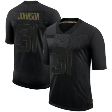 Youth Nike New Orleans Saints Chris Johnson Black 2020 Salute To Service Jersey - Limited