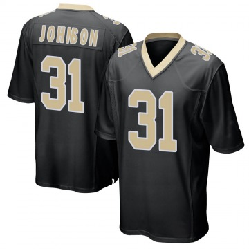 Youth Nike New Orleans Saints Chris Johnson Black Team Color Jersey - Game