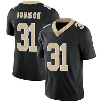 Youth Nike New Orleans Saints Chris Johnson Black Team Color Vapor Untouchable Jersey - Limited