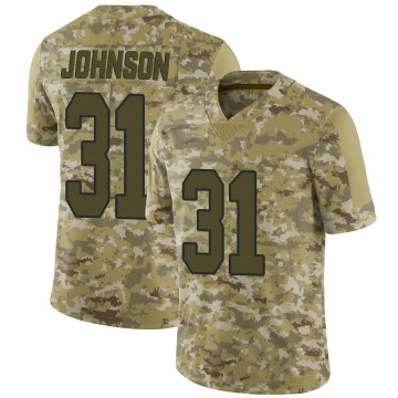 Youth Nike New Orleans Saints Chris Johnson Camo 2018 Salute to Service Jersey - Limited