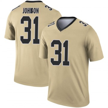 Youth Nike New Orleans Saints Chris Johnson Gold Inverted Jersey - Legend