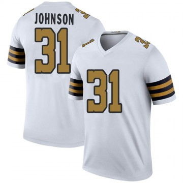 Youth Nike New Orleans Saints Chris Johnson White Color Rush Jersey - Legend