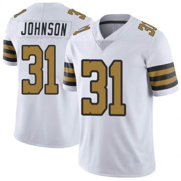 Youth Nike New Orleans Saints Chris Johnson White Color Rush Jersey - Limited
