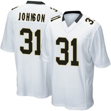 Youth Nike New Orleans Saints Chris Johnson White Jersey - Game