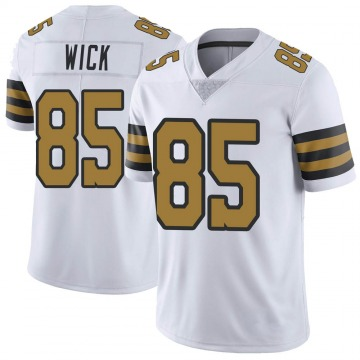 Youth Nike New Orleans Saints Cole Wick White Color Rush Jersey - Limited