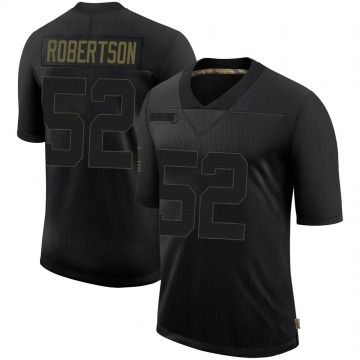 Youth New Orleans Saints Craig Robertson Black 2020 Salute To Service Jersey - Limited