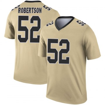 Youth Nike New Orleans Saints Craig Robertson Gold Inverted Jersey - Legend