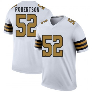 Youth Nike New Orleans Saints Craig Robertson White Color Rush Jersey - Legend