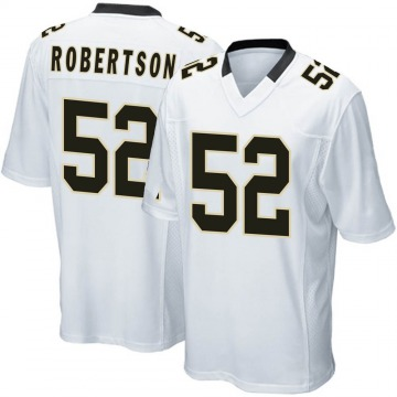 Youth Nike New Orleans Saints Craig Robertson White Jersey - Game