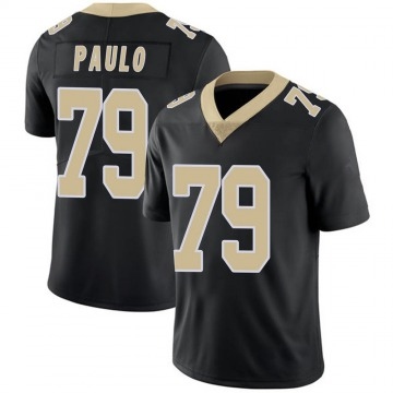 Youth Nike New Orleans Saints Darrin Paulo Black Team Color 100th Vapor Untouchable Jersey - Limited