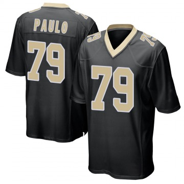 Youth Nike New Orleans Saints Darrin Paulo Black Team Color Jersey - Game