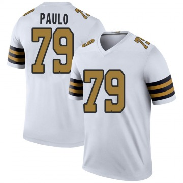 Youth Nike New Orleans Saints Darrin Paulo White Color Rush Jersey - Legend