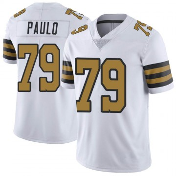 Youth Nike New Orleans Saints Darrin Paulo White Color Rush Jersey - Limited