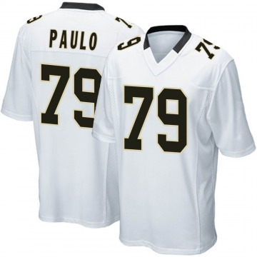 Youth Nike New Orleans Saints Darrin Paulo White Jersey - Game