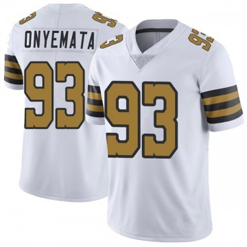 Youth Nike New Orleans Saints David Onyemata White Color Rush Jersey - Limited