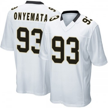 Youth Nike New Orleans Saints David Onyemata White Jersey - Game