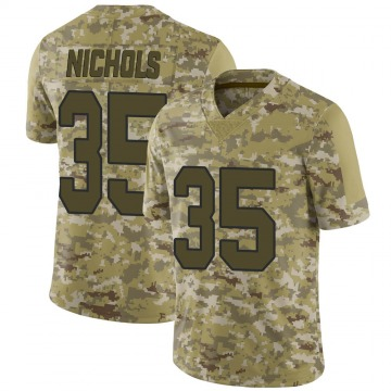 Youth Nike New Orleans Saints Deatrick Nichols Camo 2018 Salute to Service Jersey - Limited
