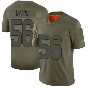 Youth Nike New Orleans Saints Demario Davis Camo 2019 Salute to Service Jersey - Limited