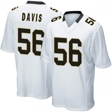 Youth Nike New Orleans Saints Demario Davis White Jersey - Game