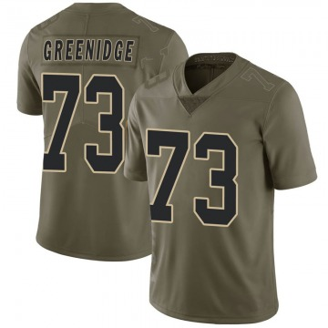 Youth Nike New Orleans Saints Ethan Greenidge Green 2017 Salute to Service Jersey - Limited
